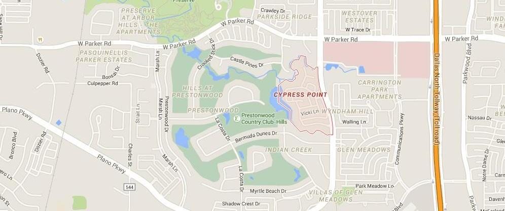 Cypress Point, Plano Texas