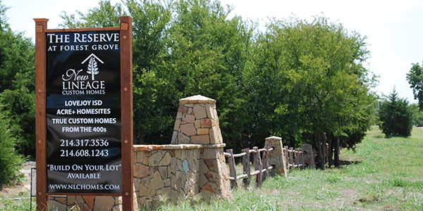 The Reserve at Forest Grove subdivision lucas texas