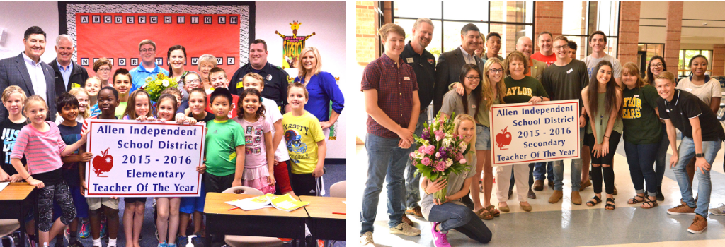 Allen ISD Teachers of the year