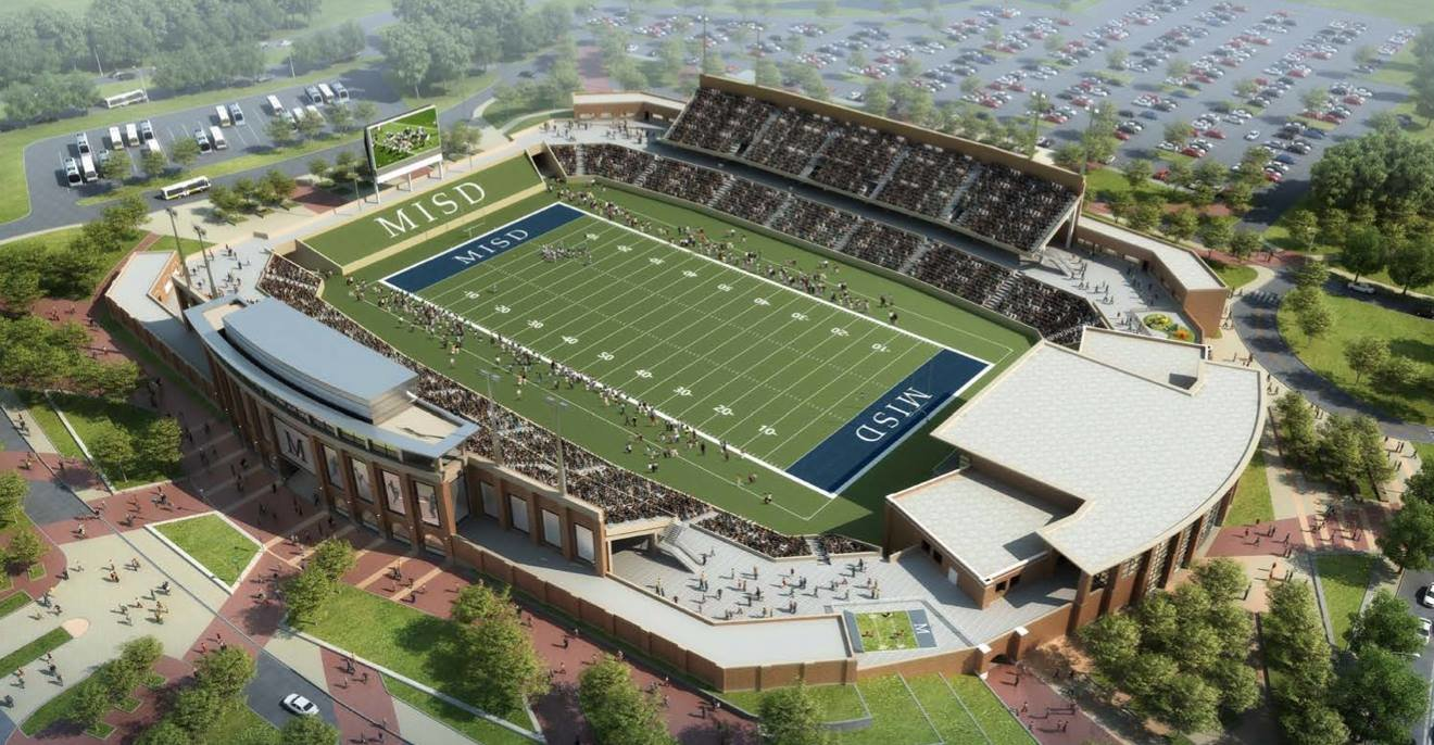 Mckinney Texas High School Football Stadium approved for about $63m