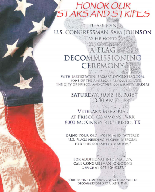 Flag Decommissioning Ceremony Frisco TX