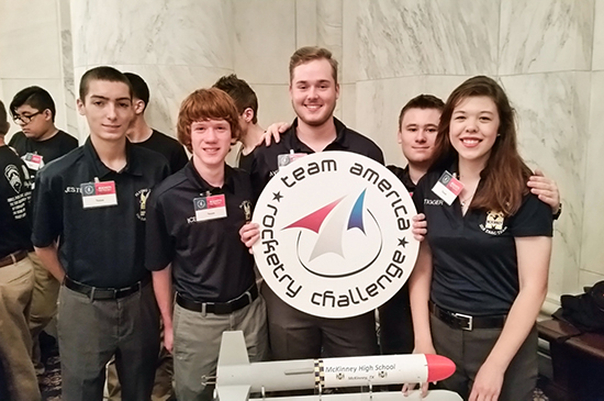 Mckinney Team America Rocketry Challenge national competition