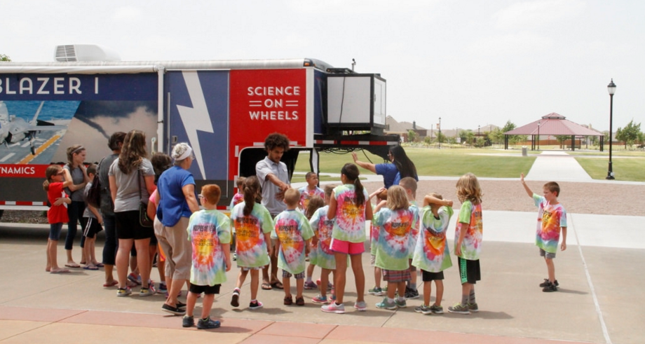 Mobile Science Exhibit at Melissa Public Library
