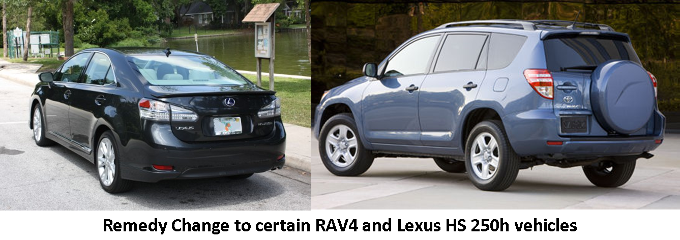 Toyota Announces Remedy Change to Certain RAV4 and Lexus HS 250h Vehicles