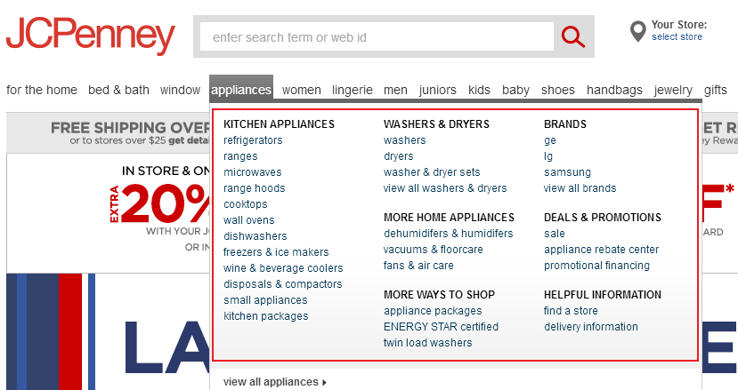 JCP selling appliances again ... after 30 years