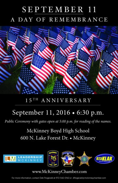 McKinney to host 9/11 remembrance event