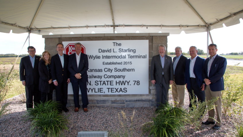 KCS renames intermodal facility in Wylie after David Starling